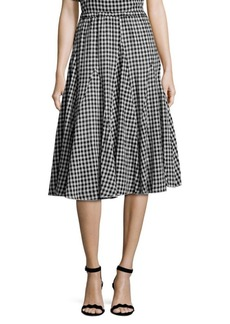 Saks Fifth Avenue Gingham-Print Maxi Skirt