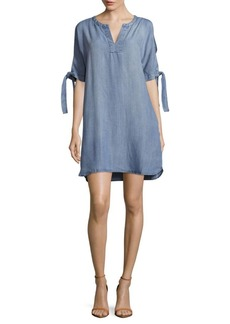 Saks Fifth Avenue Hadley Textured Faded Dress