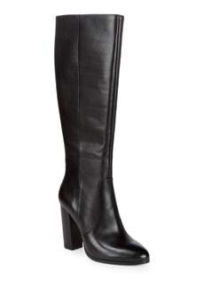 Hallie Leather Knee-High Boots