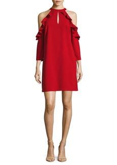 Saks Fifth Avenue Halter Cold Shoulder Dress