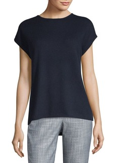 Saks Fifth Avenue Hi-Lo Cashmere Knit Tee
