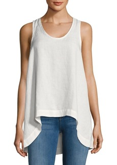 Saks Fifth Avenue Hi-lo Linen Tank Top
