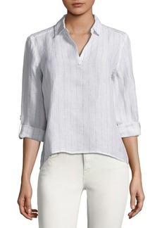 Saks Fifth Avenue Hi-Lo Linen Tunic