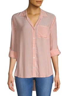 Saks Fifth Avenue Hi-Lo Stripe Shirt