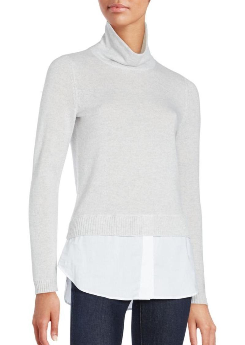 Saks Fifth Avenue BLACK Wool & Cashmere Turtleneck Sweater