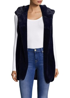 Saks Fifth Avenue Hooded Faux Fur Vest
