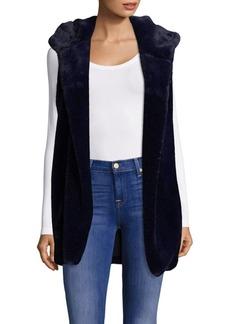 Saks Fifth Avenue Hooded Faux Fur Vest