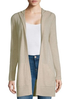 Saks Fifth Avenue Hooded Open Front Cashmere Cardigan