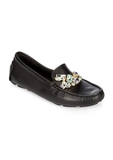 Saks Fifth Avenue Jeweled Leather Drivers