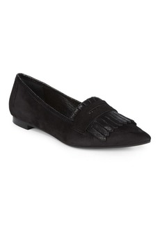 Saks Fifth Avenue Kiltie Fringed Flat Loafers