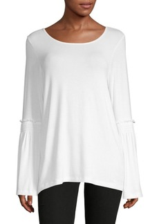 Saks Fifth Avenue Knit Ruffle-Sleeve Top