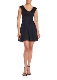 Saks Fifth Avenue Knit V-Neck Fit & Flare Dress
