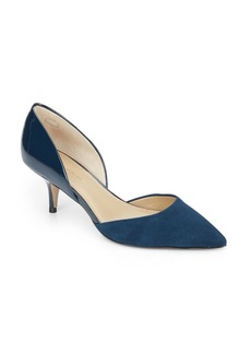Saks Fifth Avenue Koko Suede & Patent Leather D'Orsay Pumps