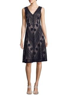 Saks Fifth Avenue BLACK Lace Midi Dress