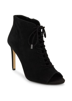 Saks Fifth Avenue Lace-Up Suede Booties