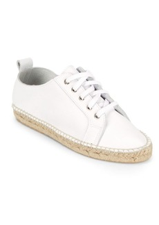 Saks Fifth Avenue Lace-Up Leather Espadrille Sneakers