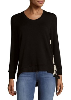 Saks Fifth Avenue Lace Up Top