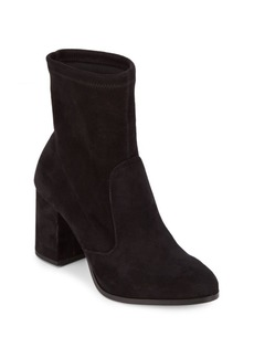 Saks Fifth Avenue Lady Suede Block Heel Booties