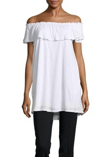 Saks Fifth Avenue Larisa Ruffle Off Shoulder Top