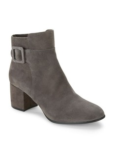 Saks Fifth Avenue Suede Almond Toe Ankle Boots