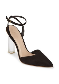 Saks Fifth Avenue Leather Ankle-Strap Pumps