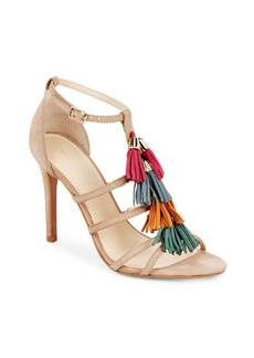 Saks Fifth Avenue Leather Ankle-Strap Stilettos