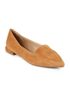 Saks Fifth Avenue Leather-Blend Point-Toe Flats