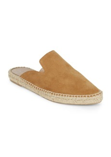 Saks Fifth Avenue Leather Espadrille Mules