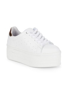 Saks Fifth Avenue Leather Platform Sneakers