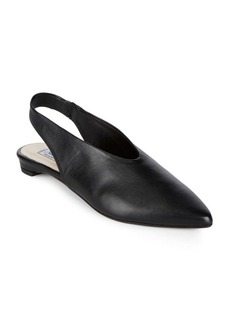 Saks Fifth Avenue Leather Slingback Flats