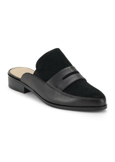 Saks Fifth Avenue Leather Slip-On Mule Slides