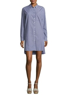 Saks Fifth Avenue Leo Stripes Long-Sleeve Shirt Dress