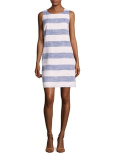 Saks Fifth Avenue Linen-Blend Striped Tunic Dress