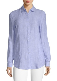 Saks Fifth Avenue Linen Button-Down Shirt