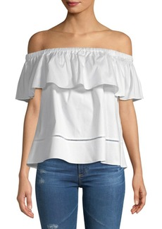 Saks Fifth Avenue Lisha Ruffle Top