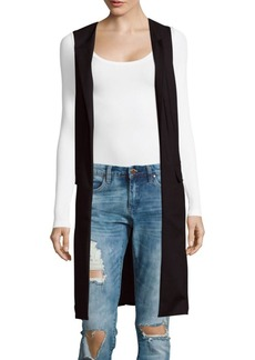 Saks Fifth Avenue Long Open Front Vest