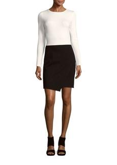 Saks Fifth Avenue Long Sleeve Colorblock Dress