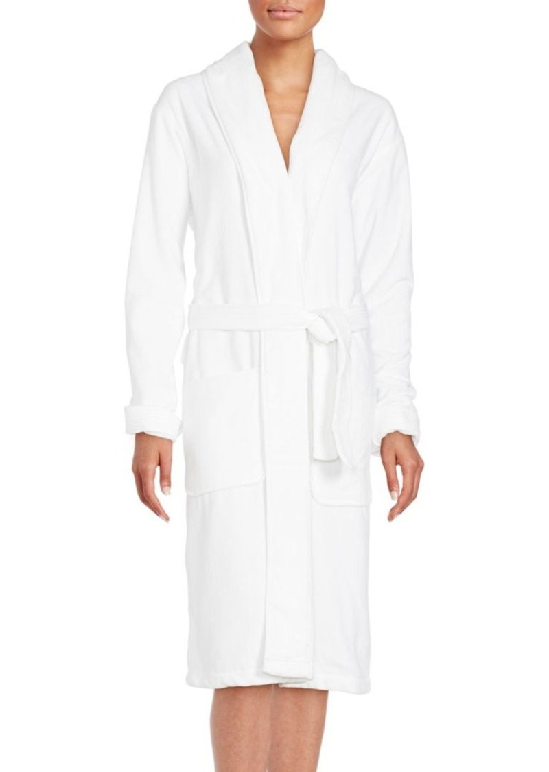 Saks Fifth Avenue Long Sleeve Cotton Robe
