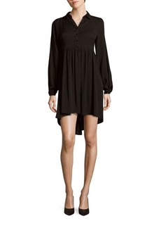 Saks Fifth Avenue Long-Sleeve Hi-Lo Dress
