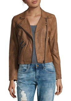 Saks Fifth Avenue Long-Sleeve Off Center Moto Jacket
