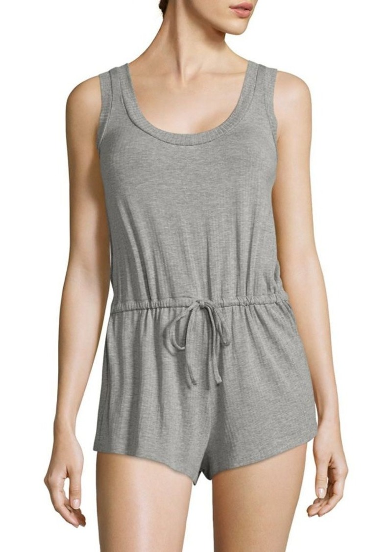 Saks Fifth Avenue Collection Maddie Heathered Short Jumpsuit