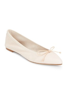 Saks Fifth Avenue Made in Italy Leather Point Toe Flats