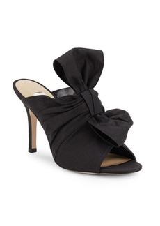 Saks Fifth Avenue Made in Italy Linen Peep-Toe Stiletto Sandals