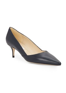 Saks Fifth Avenue Made in Italy Marcie Leather Kitten-Heel Pumps