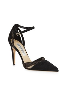 Saks Fifth Avenue Made in Italy Point Toe Ankle Strap Pumps