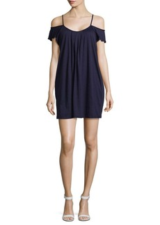 Saks Fifth Avenue Madison Slub Cold Shoulder Dress