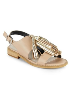 Saks Fifth Avenue Maria Glossy Leather Sandals
