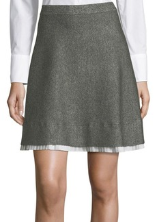 Saks Fifth Avenue Marl A-Line Skirt
