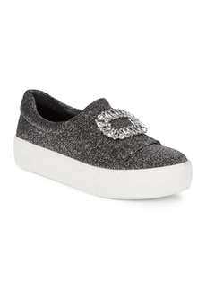 Saks Fifth Avenue Metallic Flatform Sneakers