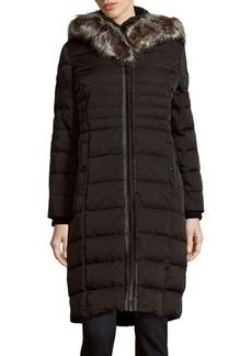 Saks Fifth Avenue Missy Faux Fur-Trimmed Hooded Down Coat